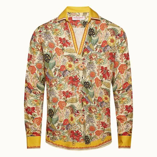 Ridley 伊甸园系列度假风套头衬衫 - 亮金色