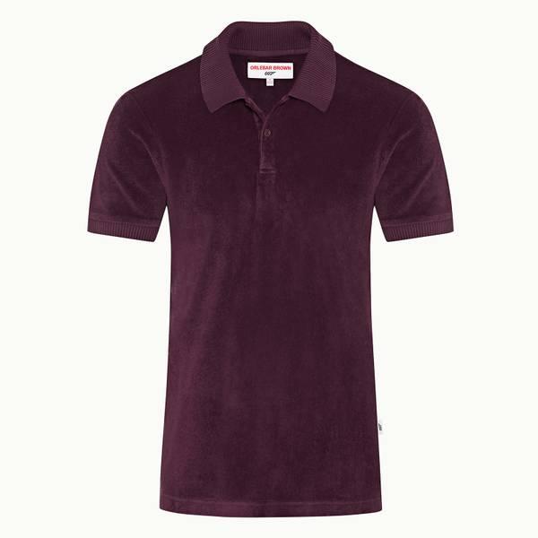 Dr No Towelling Polo 007 系列毛巾布 Polo 衫 - 紫红色