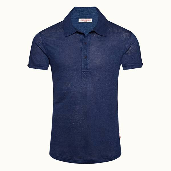 Sebastian Linen 系列定制款 Polo 衫 - 水洗蓝