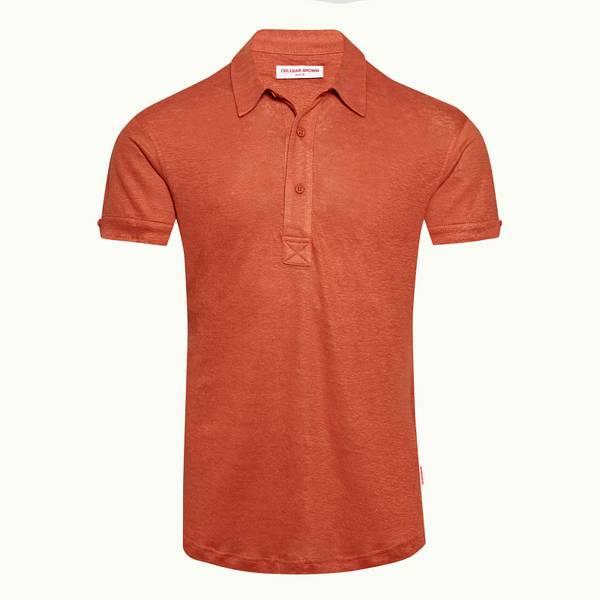 Sebastian Linen 系列定制款 Polo 衫 - 复古玫瑰红