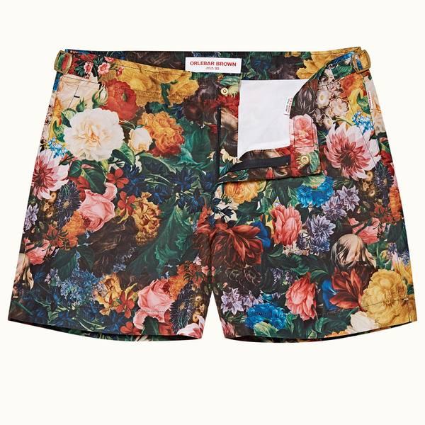 Setter 系列野玫瑰游泳短裤 - 玫瑰/毛茛印花