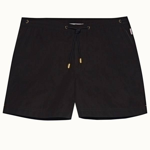 Setter X 系列短款系带游泳短裤 - 黑色
