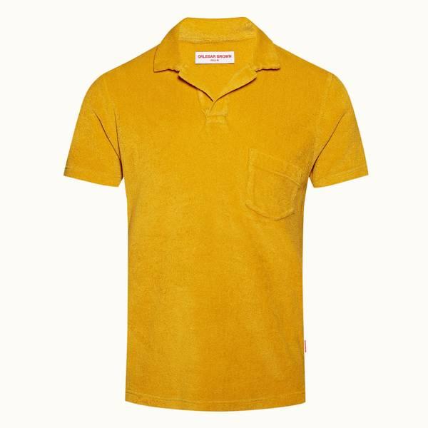Terry Towelling 系列 定制款度假风Polo 衫 - 亮金色