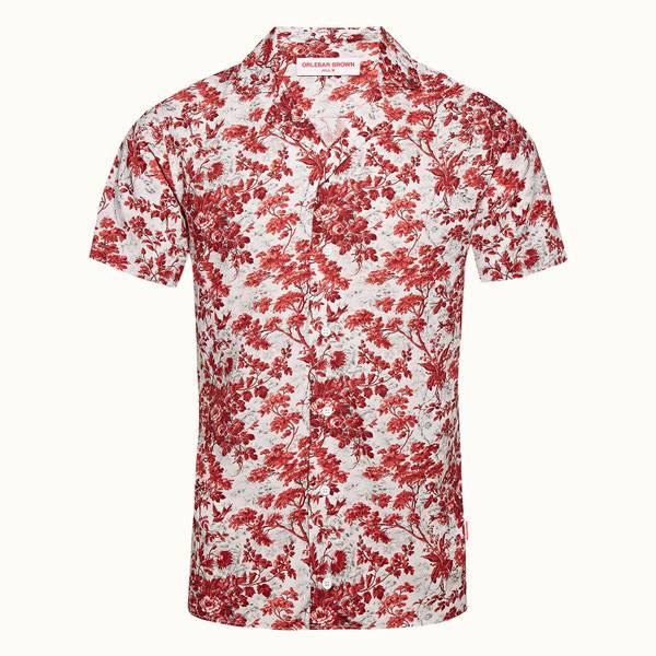Travis 系列复古花园衬衫 - 玫瑰红/复古玫瑰红