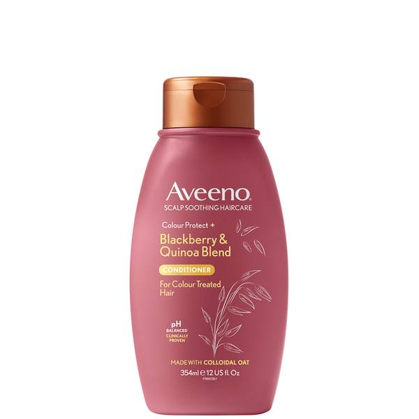 Aveeno Scalp Soothing Haircare Colour Protect Blackberry and Quinoa Conditioner 354ml