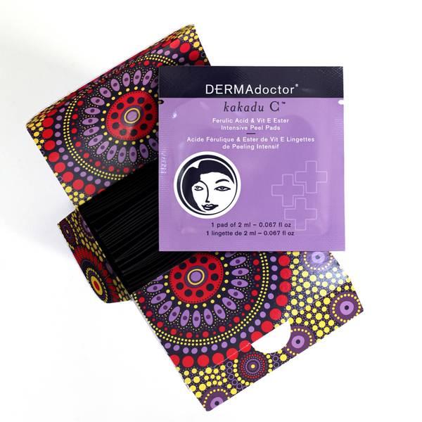 DERMAdoctor Kakadu C Ferulic Acid and Vitamin E Ester Intensive Peel Pads