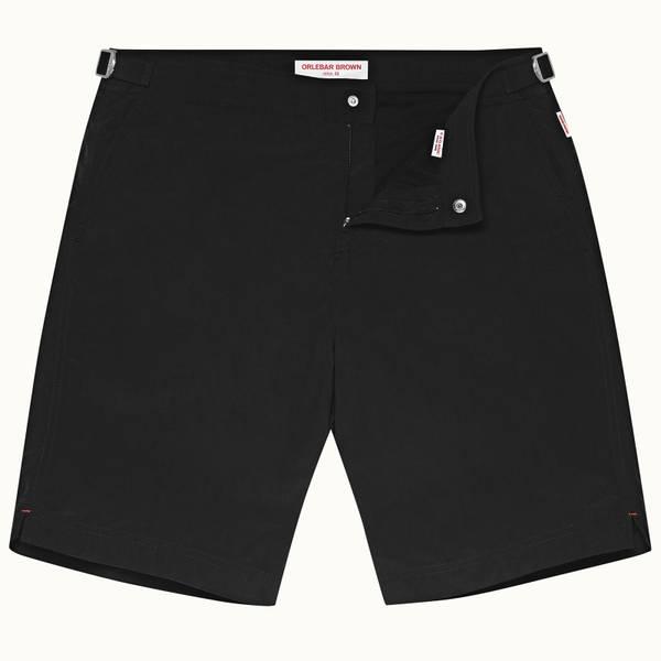 Dane 系列最长款游泳短裤 - 黑色