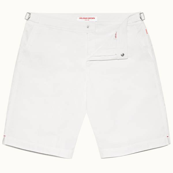 Dane 系列长款游泳短裤 - 白色