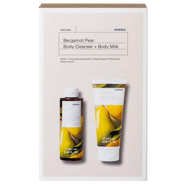 KORRES Bergamot Pear Body Milk and Body Cleanser Duo