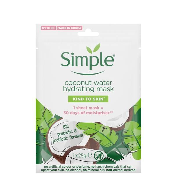 简单善良的椰子水保湿面膜