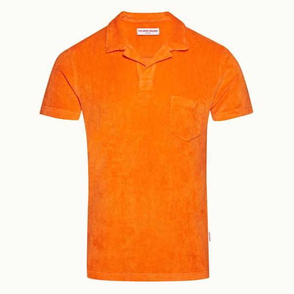 Terry Towelling 系列定制款毛巾布度假风 Polo 衫 - 亮橙色