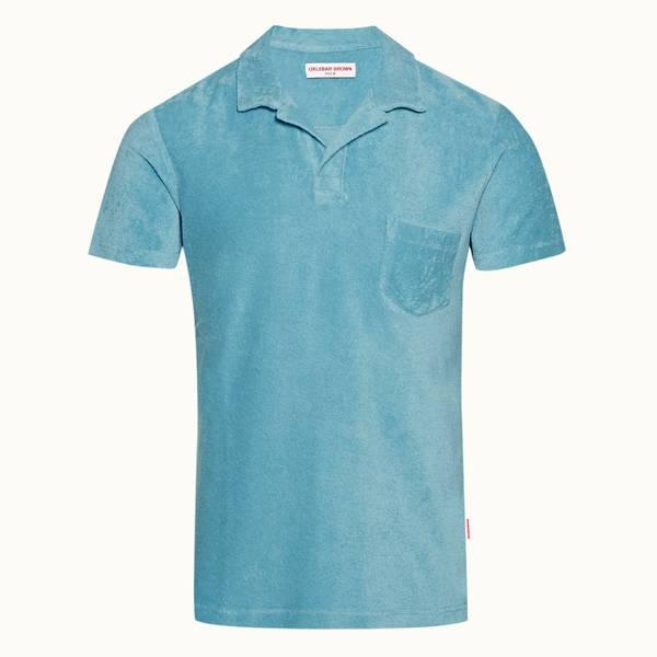 Terry Towelling 系列定制款毛巾布度假风 Polo 衫 - 玛雅蓝色