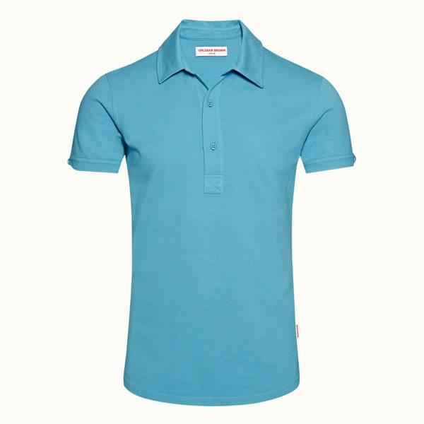 Sebastian 系列定制款 Polo 衫 - 玛雅蓝色