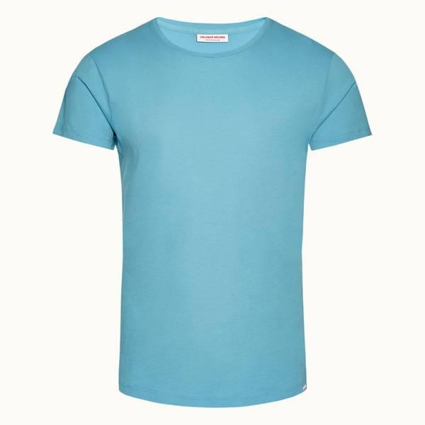 Ob-T 系列定制款圆领 T 恤 - 玛雅蓝色