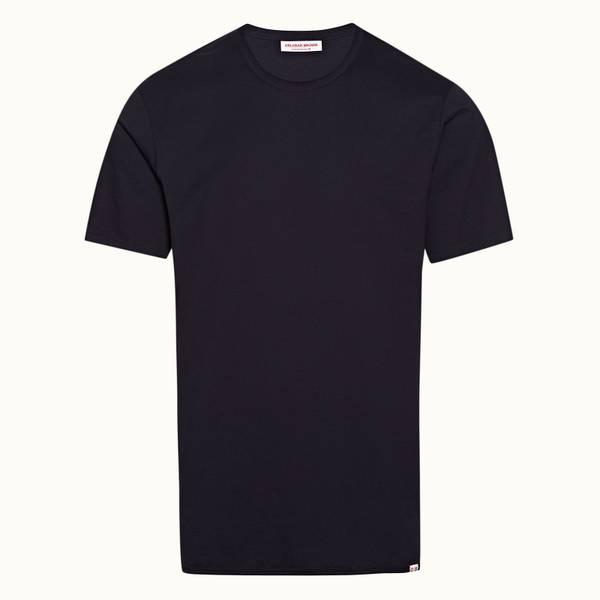 Nicolas Binding 宽松款棉质 T 恤 - 午夜鸢尾黑色