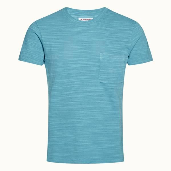 Sammy 系列经典款成衣染色 T 恤 - 玛雅蓝色
