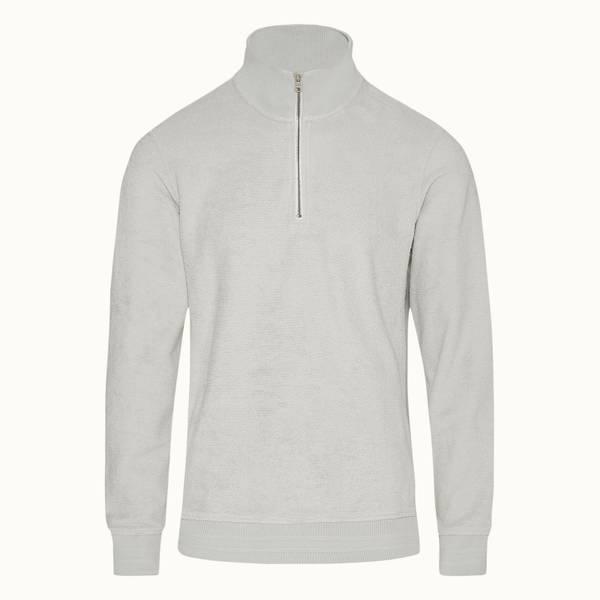 Isar Towelling 系列经典款双面毛巾布运动衫 - 浅灰色