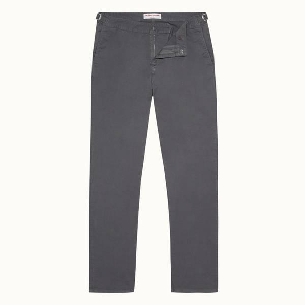Campbell 系列修身款斜纹棉布裤 - 风暴灰色
