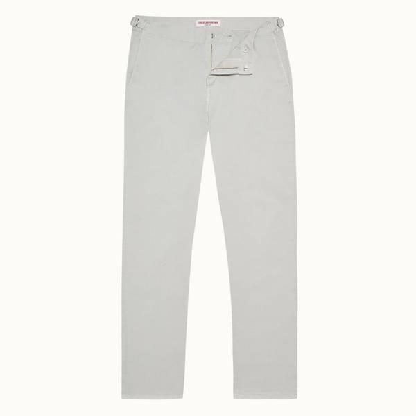 Campbell 系列修身款斜纹棉布裤 - 浅灰色
