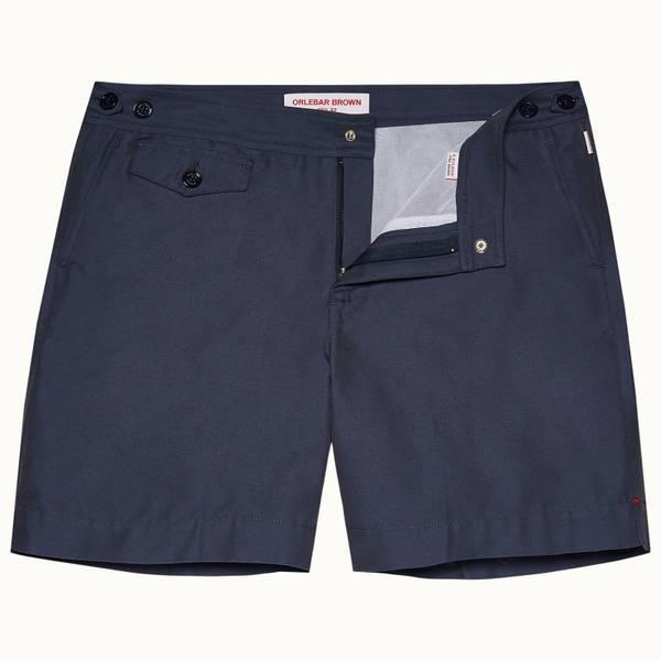 Bulldog 系列中长款游泳短裤 - 海军蓝色