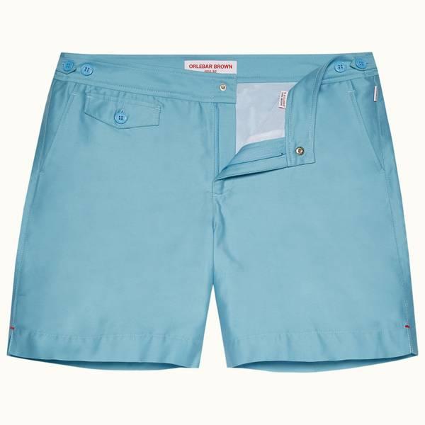 Bulldog 系列中长款游泳短裤 - 玛雅蓝色