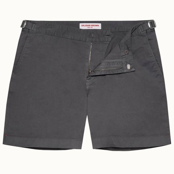 Bulldog Cotton Twill 系列棉质中长款短裤 - 风暴灰色