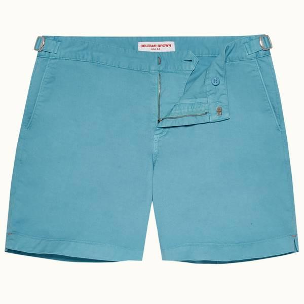 Bulldog Cotton Twill 系列棉质中长款短裤 - 玛雅蓝色