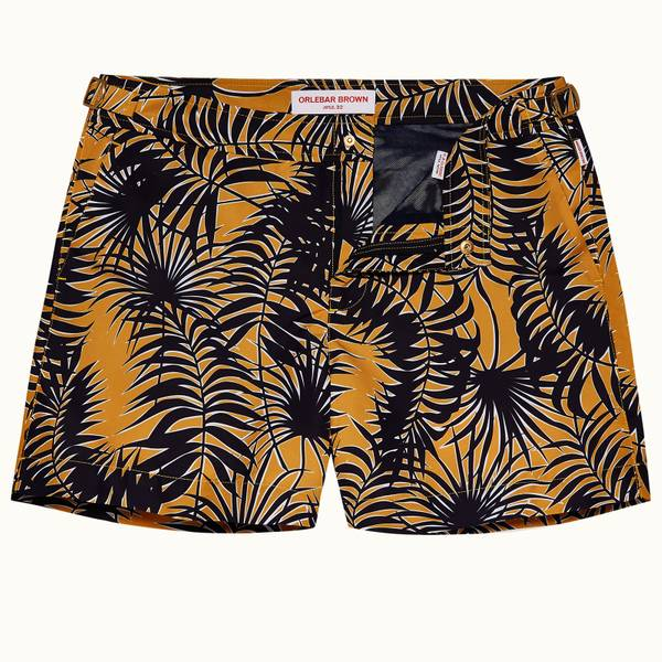 Setter 系列 Magellan 印花短款游泳短裤 - 亮金色/海军蓝色