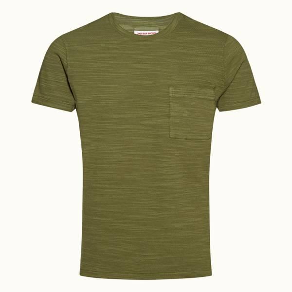 Sammy 系列经典款成衣染色 T 恤 - 野地绿色