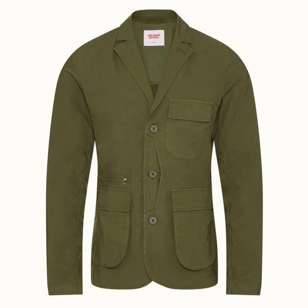 Marlowe 系列三扣西装外套 - 野地绿色