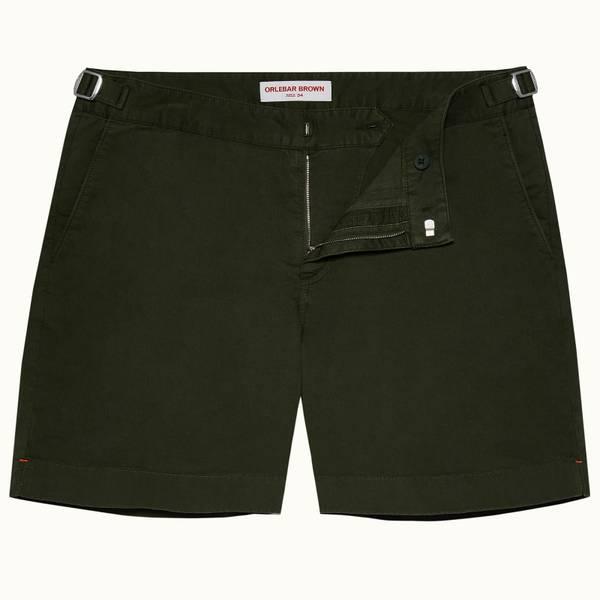 Bulldog Cotton Twill 系列棉质中长款短裤 - 亚马逊丛林绿色