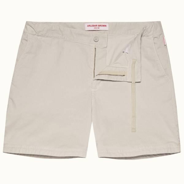 Bulldog Corduroy 系列灯芯绒中长款短裤 - 浅灰色