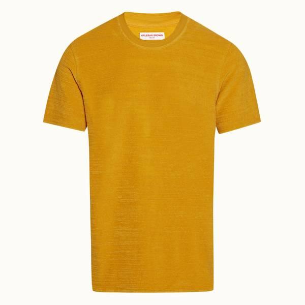 Bolan Towelling 系列宽松款毛巾布 T 恤 - 亮金色