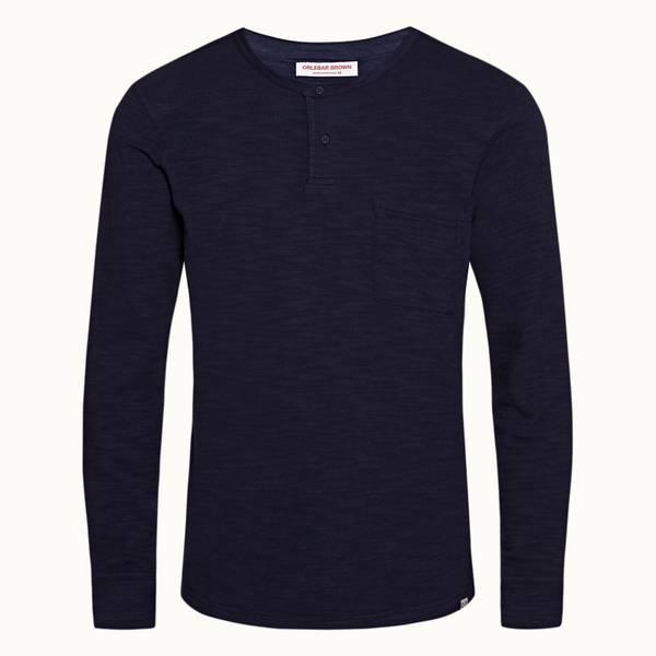 Benedict 系列宽松款长袖 T 恤 - 海军蓝色