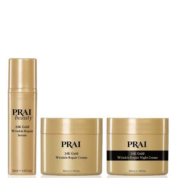 PRAI 24K金光闪闪系列日用和夜用产品