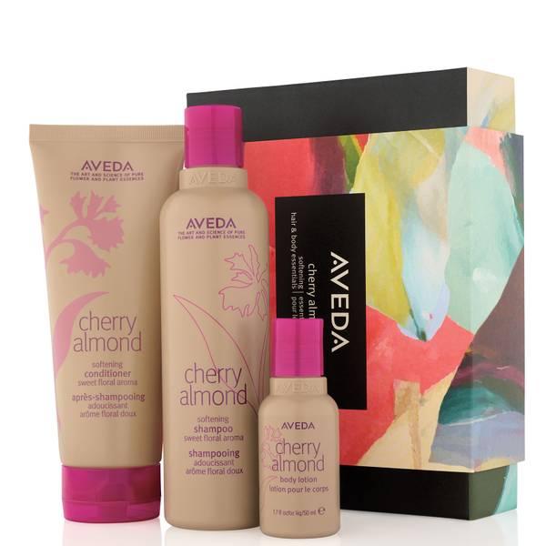 Aveda Cherry Almond Softening Hair and Body Essentials Set