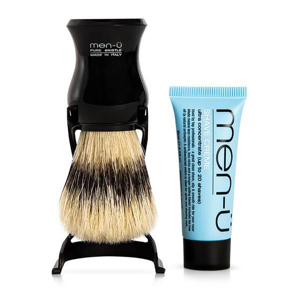 men-ü Barbiere 剃须刷和底座 | 黑色