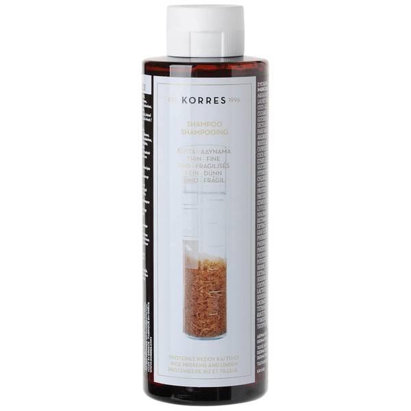 Korres  大米蛋白质和椴树洗发水适合精细发质250ml