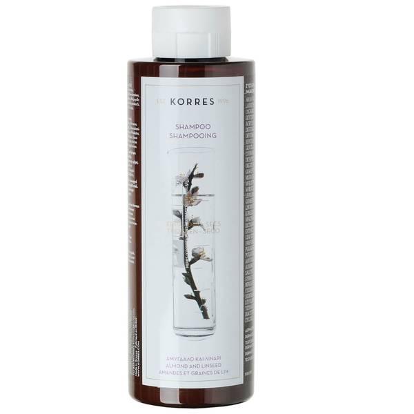 Korres 杏仁亚麻籽洗发水适用于干燥/损伤的秀发250 ml