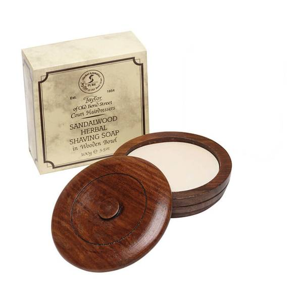 Taylor of Old Bond Street Wooden Bowl Including Shaving Soap(100g)