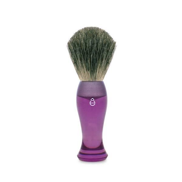 eShave 獾毛长柄剃须刷 - 紫色