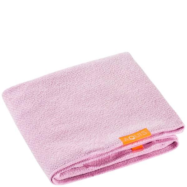 Aquis 单色奢华款干发毛巾 | 沙漠玫瑰红