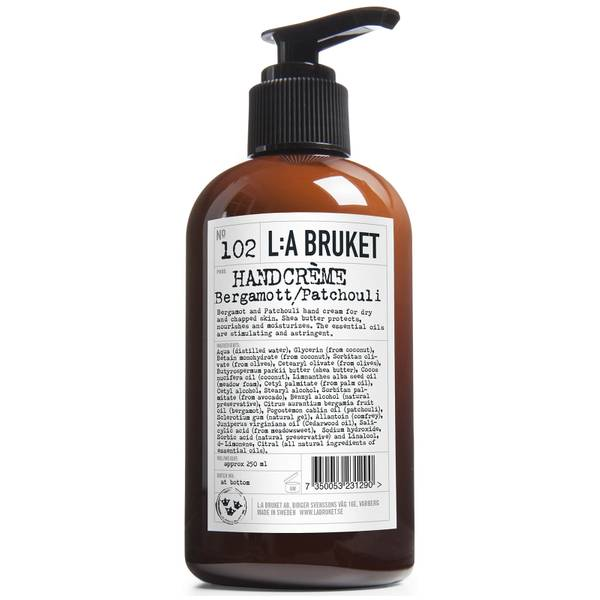 L:A BRUKET Hand Cream 250ml - Bergamot/Patchouli