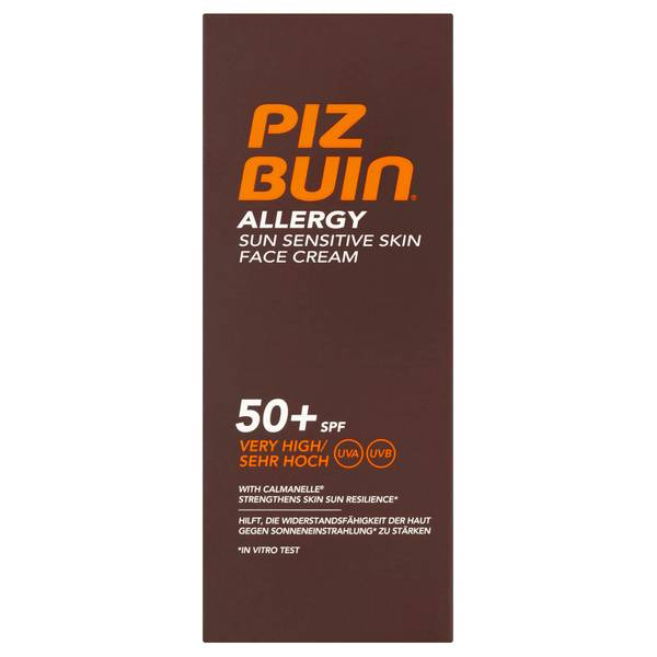Piz Buin 阳光敏感肌肤专用面部防晒霜 | 极高度 SPF50+ 50ml