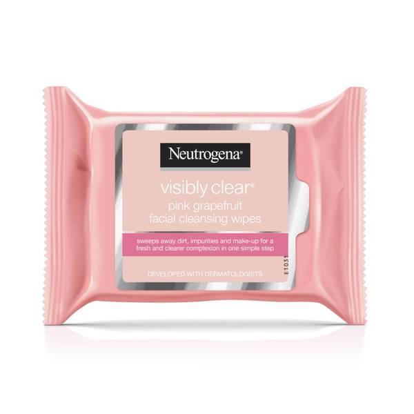 露得清粉红葡萄柚药用洁面湿巾