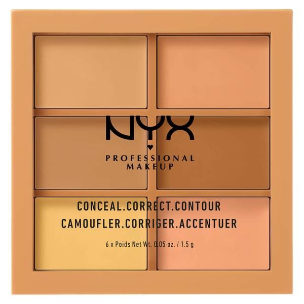 NYX 3C 遮瑕修饰修容彩妆盘 Medium 系列