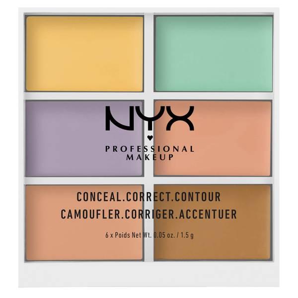 NYX 六色修容遮瑕盘