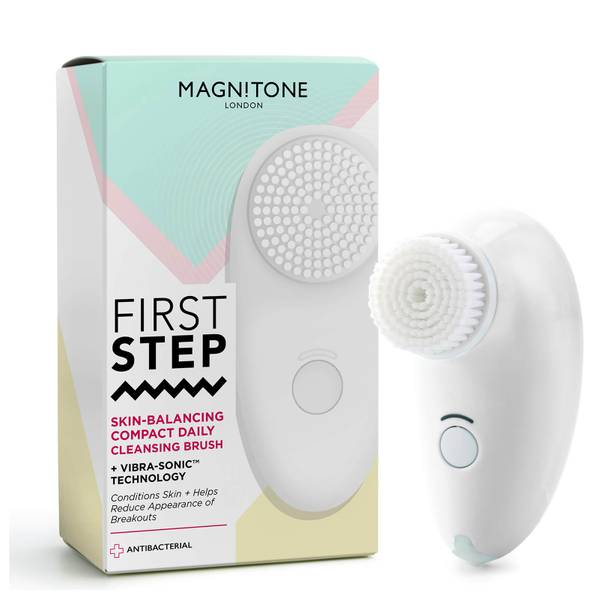 Magnitone London First Step Skin-Balancing Compact Cleansing Brush - White