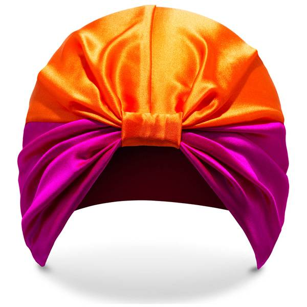 SILKE The Poppy 束发套 - 粉色和橙色