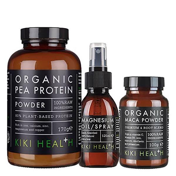 KIKI Health 健身蛋白粉玛咖粉和护肤喷雾三件套